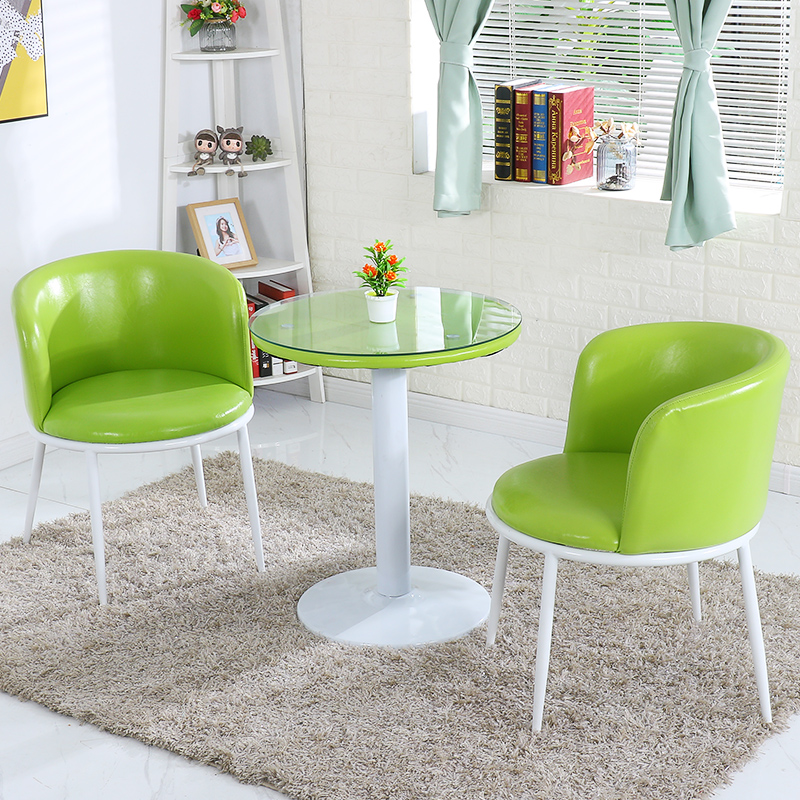 Creative Leisure Small Round Table Bedroom Chair Back Simple Lazy Leisure Talk Home Table And Chair Combination Three-piece