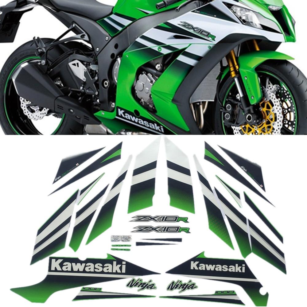 Motorcycle For Kawasaki NinjaZX10R Ninja ZX 10R ZX10R 15 2015 Full Kit High Quality Sticker Decal
