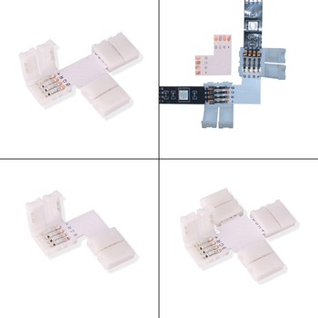 10Pcs 4 pin 8mm LED Strip Light Connector 10mm PCB Board Strip to Strip No Soldering Easy Connector Buckle For SMD 2835 5050 RGB 10pcs 5pcs 1pcs 4pin 10mm rgb led strip connector free welding connector for 5050 smd rgb led strip connector accessories