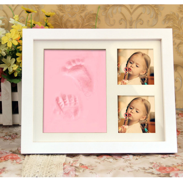Newborn Baby Handprint Footprint Kit Casting Infant Baby Non-toxic Souvenirs Gift Imprint DIY Soft Clay Inkpad For Baby