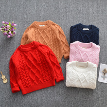 New Autumn Winter Baby Boys Girls Sweaters Kids Knitted Round-Neck Sweater Toddler Long Sleeve Clothes 2018 knitted girls sweater autumn sweaters for girls v neck girls top winter teen kids girls clothing christmas gift cardigan 12