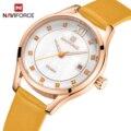 NAVIFORCE женские часы Лидирующий бренд Модные Роскошные Кварцевые водонепроницаемые наручные часы женские простые часы для девочек подарок ...