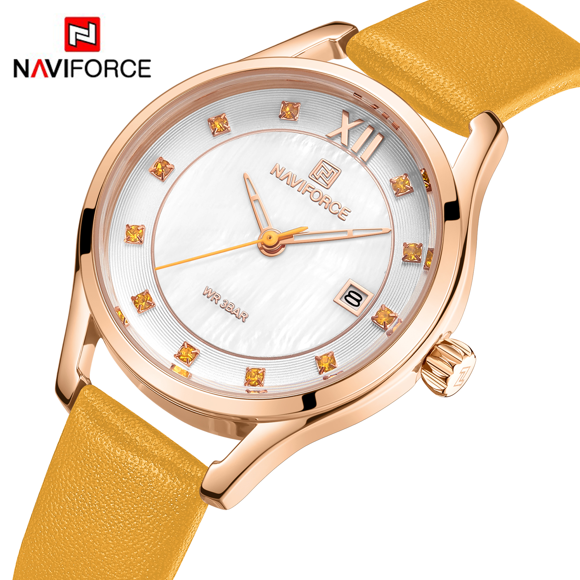NAVIFORCE Women Watches Top Brand Fashion Luxury Quartz Watch Waterproof Wristwatch Ladies Simple Girls Clock Gift Reloj Mujer