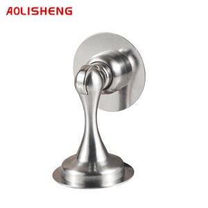 A0LISHENG 201 Бесшумная дверная пробка из нержавеющей стали, перфорированная, не перфорированная двухцелевая дверная пробка