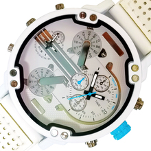 Mens Watch Military Fake White Hodinky Quartz Classic Aaa Meski Wrist Zegarek Three-Eye