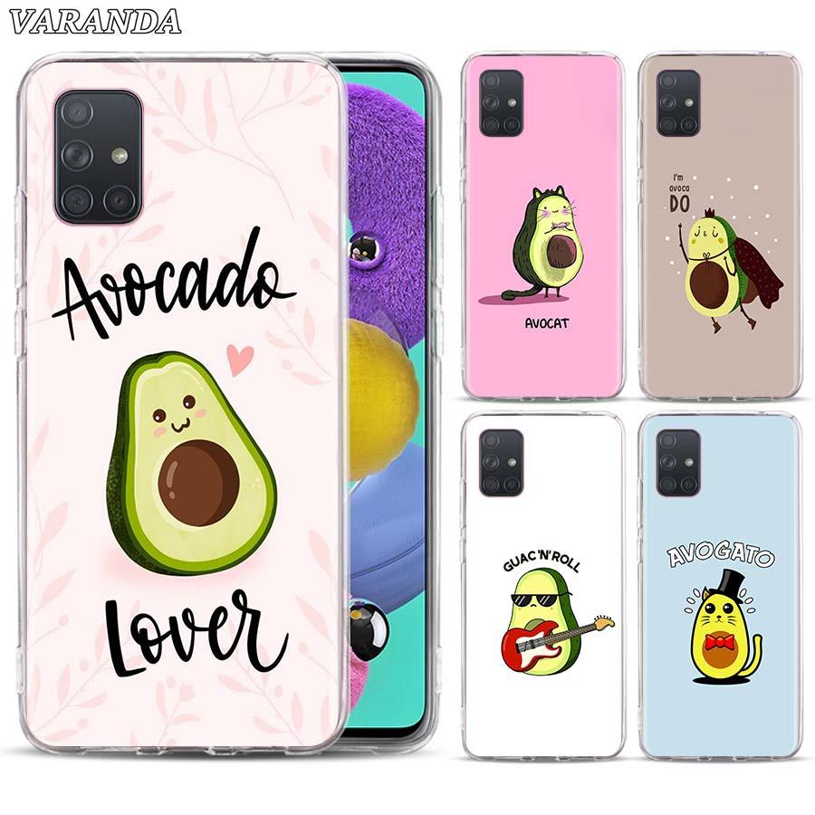 Avocado Aesthetic Case For Samsung Galaxy A10 A10e A20 A20e A30 A40 A50 A51 A70 A71 A80 A11 A21s A31 A41 Soft TPU Couqe Cover