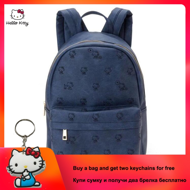 Hellokitty Fashion Backpack Women Girls Leather Backpack School Bags for Teenage Girls Small Mini Bag Backpack For Young People