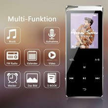 Portable Touch Screen Slim Mp4 Player LCD Display FM Radio Player Touch Screen Ultra-Thin Lossless Mp4 Player
