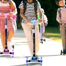 Children Foot Scooters LED Light Up Children Unisex Kick Adjustable Scooter 3 Wheel City Roller Skateboard Gifts For Kids Toys