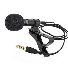 Micrófono de condensador omnidireccional de 1,5 m para grabadora, para iphone 6S, 7 Ppus, Xiaomi, almohadilla para teléfono móvil, cámara DLSR