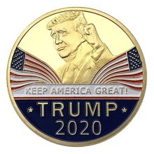 2020 Challenge Commemorative Coin Souvenir Keep America Great Leader In Chief Collectible Eagle Coins Art Collection