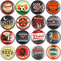 Bottle Cap Metal Tin Signs Plates Beer/Drink/football/Cafe Retro Decoration Wall Art Plaque Vintage Home Decor Poster 35cm