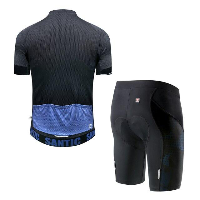 Santic Homme Dété Combinaisons de Cyclisme Jersey ensemble short et haut Vtt VÉLO VÉLO Vêtements VTT Vêtements Respirant