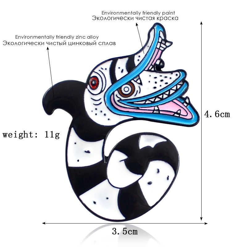 Evil creature Viper งูเข็มกลัดงู Essence Monster Badge สองหัวงู Lapel PIN ของขวัญเครื่องประดับสำหรับเด็ก