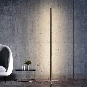 Image 3 - Nordic Minimalist Modern Floor Lamp Creative Site Lamp Personality Led Stand Light Bedroom Living Room Decor Wooden Floor Lights
