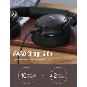 Image 5 - Mpow H19 IPO Wireless Headphones ANC Noise Canceling Headphone HiFi Stereo Bluetooth 5.0 Headset With 30H Playtime For Iphone 11