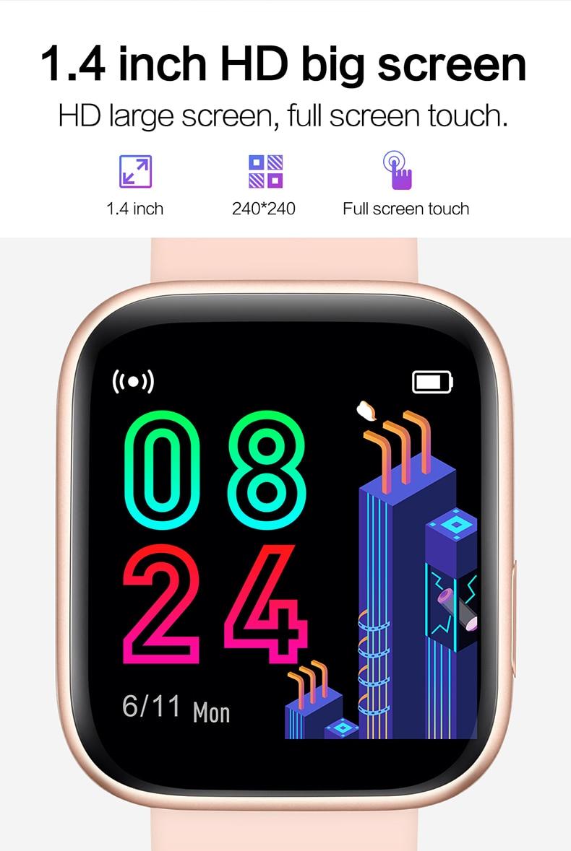 Smart watch sports TKYUAN P4, water resistant, control, sleep, heart rate Screen