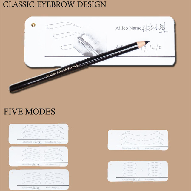 Microblading Practice Tool For Beginners Permanent Makeup Supplies Eyebrow Stencils Different Shapes Eyebrow Mold Drawing Paper 4