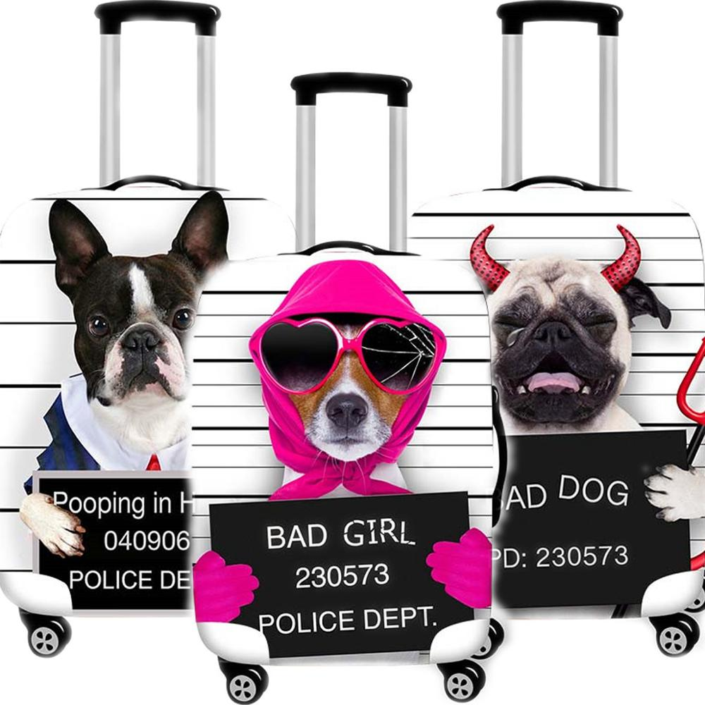 Travel Accessories Cute Animal Dog Luggage Case Protective Cover Waterproof Trunk Case Thicken Elastic Suitcase 18-32 Inch XL