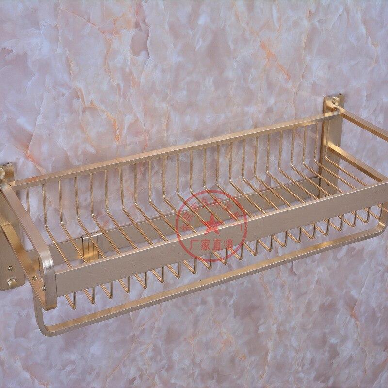 Alumimum Gold Mesh Basket Towel Rack Luxury Gold Color Grid U-Shaped Large Rims Towel Rack