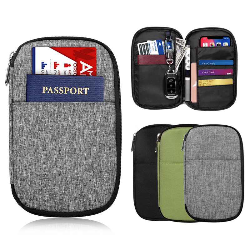 Ultralight High Capacity Travel Passport Holder Wallets Women Organizer Handbag Men Document Bag Credit Card Organizer Pouch