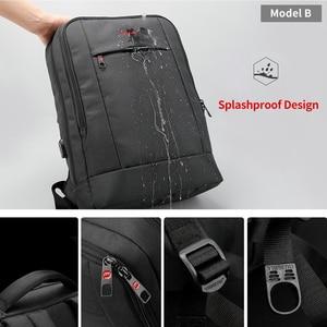 Image 4 - Tigernu Big rabat Casual Men 15.6 cala z zabezpieczeniem przeciw kradzieży plecak na laptopa torba moda plecak z USB męski plecak szkolny dla mężczyzn