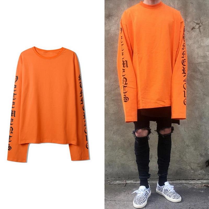 HIP HOP T-Shirt Men Fashion 2019 Autumn New Long Sleeve O-neck T Shirt Top Tees Punk Tshirt Clothes