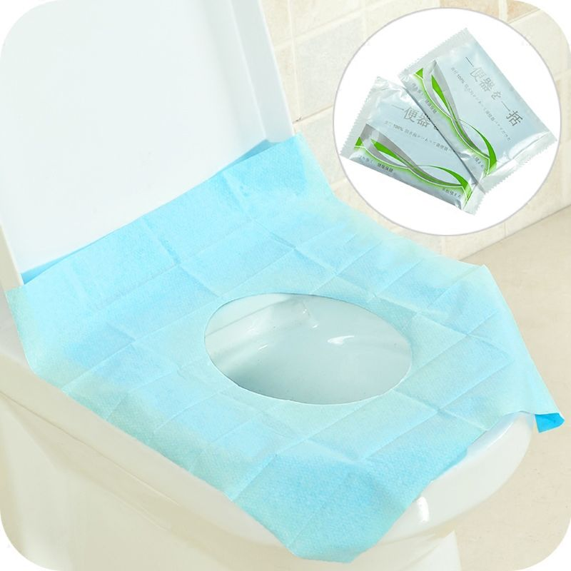 Disposable Toilet Seat Cover Waterproof Portable Travel Safety Toilet Seat Pad Crease-Resistance