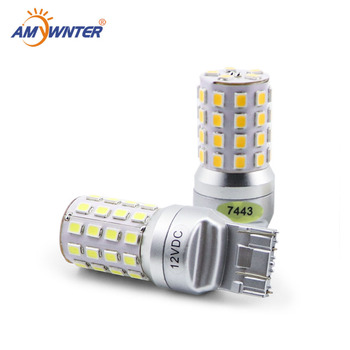 цена на High Power T20 W21/5W 12V w16w led Dual Light Function WY21W LED Yellow White car Brake lights bulbs Red Car Light Source