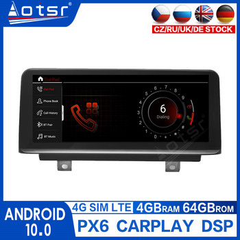 10.25 IPS Android 10.0 Car DVD Radio Player for BMW F30/F31/F34/F20/F21/F32/F33/F36 Car Multimedia GPS Navigation NBT System 2k image