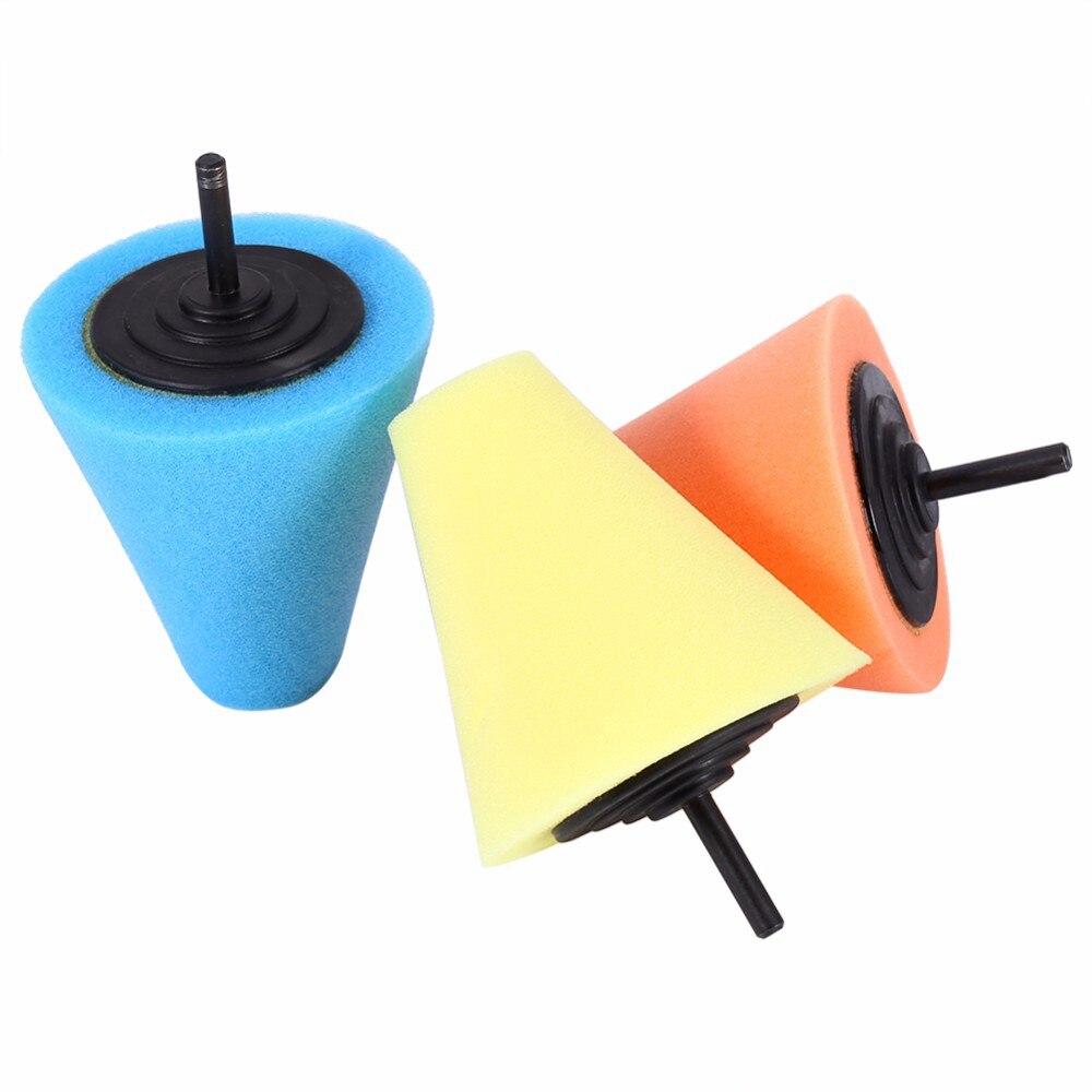 1 pièces automobile voiture brunissage mousse éponge polissage cône en forme de tampons de polissage pour outils de nettoyage de moyeu de roue de voiture
