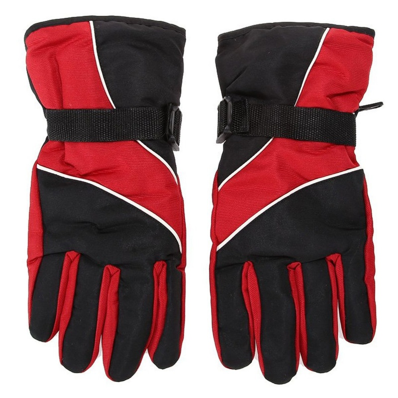 Men Ski Gloves Thermal Waterproof For Winter Outdoor Sports Snowboard (Red)