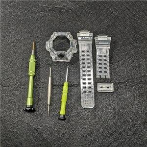 Image 1 - Силиконовый резиновый ремешок для наручных часов GW9400, прозрачный ремешок для наручных часов и чехол с инструментами