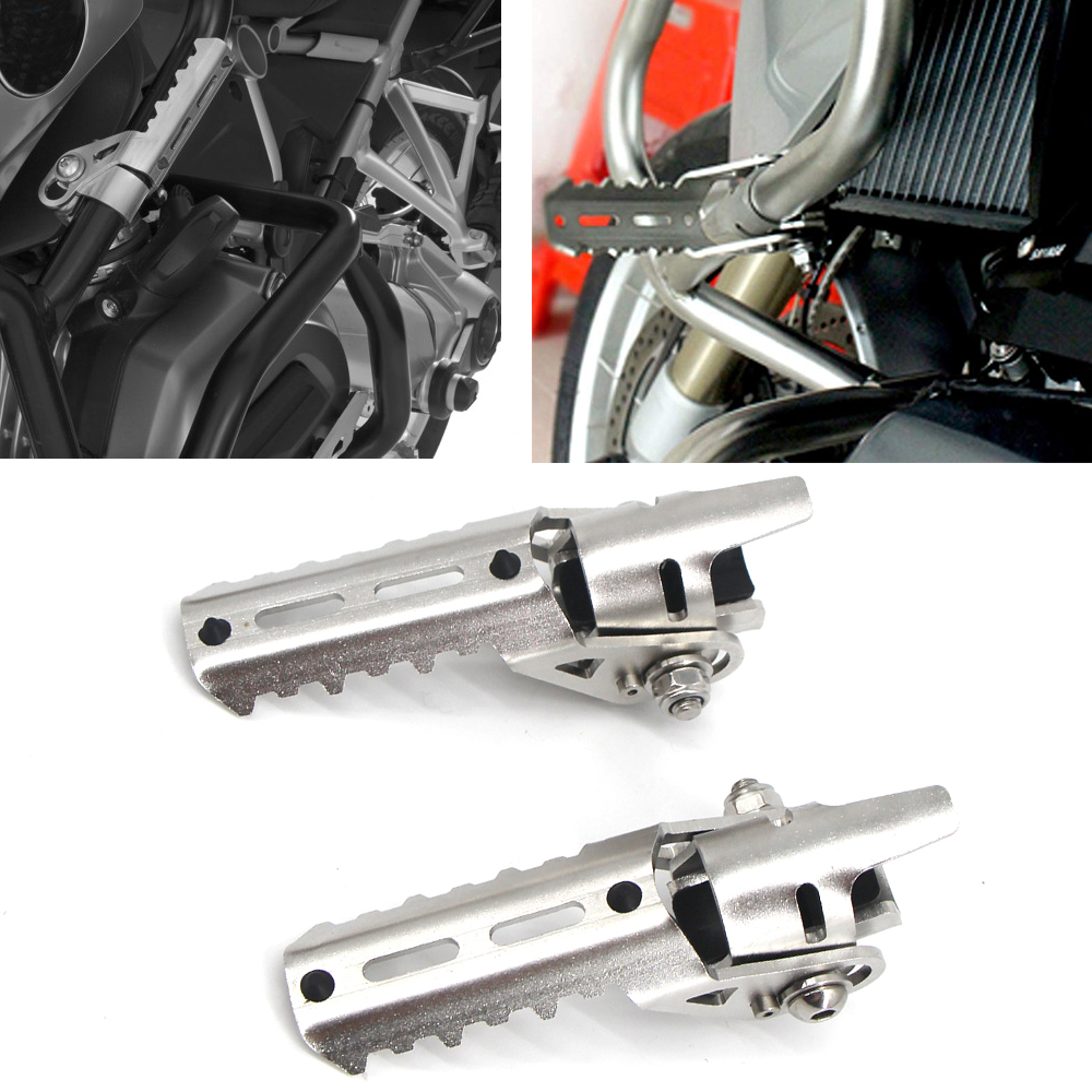 Motorcycle Highway Silver Highway Front Pegs Footrests Foot Pegs For BMW R1200GS R 1200 R1200 GS adv adventure LC 2013-2019
