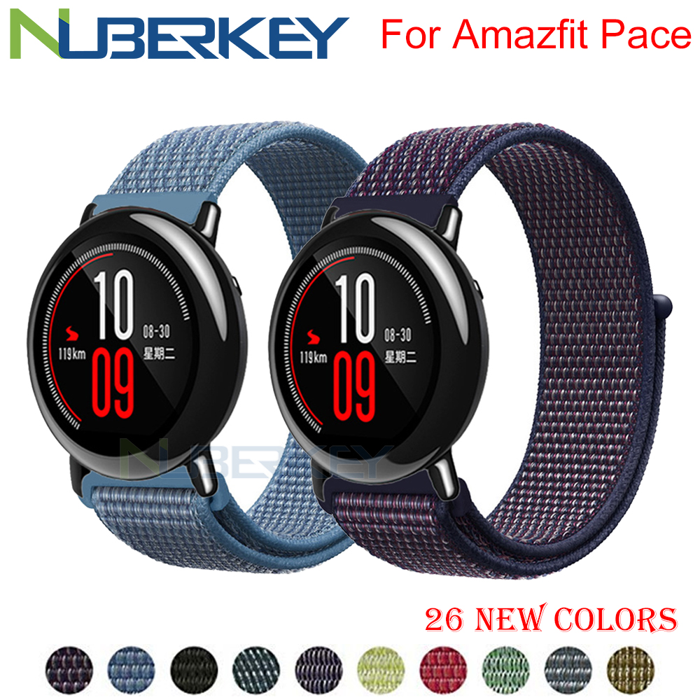 22mm Nylon Loop Woven Strap For Xiaomi Amazfit Pace Strap Watch Band For Huami Amazfit PACE Stratos 2/2s Smart Watch Bracelet