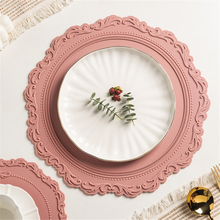 23cm 35cm Silicone Flower Placemat Tableware Oil Resistant Heat Insulation Non-Slip Tablemat Coaster Kitchen Washable Cup Pad