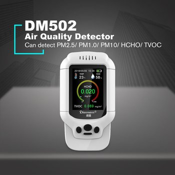 Pm2.5/hcho/tvoc temperature humidity monitor aqi air quality analysis tester gas detector analyzer measuring tool smog meter