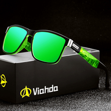 Viahda marka tasarım polarize güneş gözlüğü erkekler sürüş Shades erkek güneş gözlüğü kadınlar için kare ayna yaz UV400 Oculos