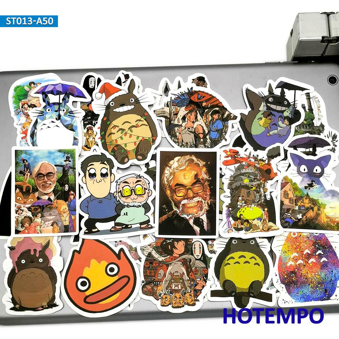 50pcs Anime Movie Manga Miyazaki Hayao Cute Cartoon Stickers Toys for Kids Mobile Phone Laptop Luggage Skateboard Decal Stickers(China)