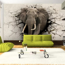 цена на Custom wallpaper 3D photo murals elephant mural TV wall background living room bedroom restaurant wallpaper 3d papel de parede