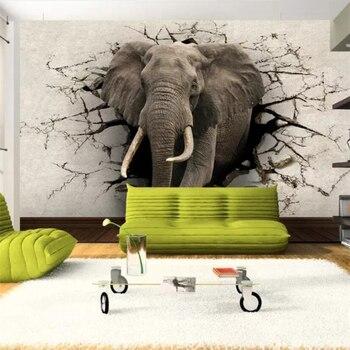 Custom wallpaper 3D photo murals elephant mural TV wall background living room bedroom restaurant wallpaper 3d papel de parede цена 2017