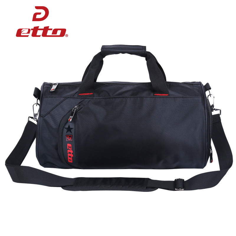 Etto Waterproof Gym Bag Fitness Training Sports Bag Portable Shoulder Travel Bag Independent Shoes Storage Basketball Bag HAB011