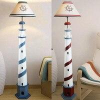 Mediterrâneo farol lâmpada de assoalho retro oceano em pé lâmpada sala estar quarto luz chão crianças decoração casa luminárias
