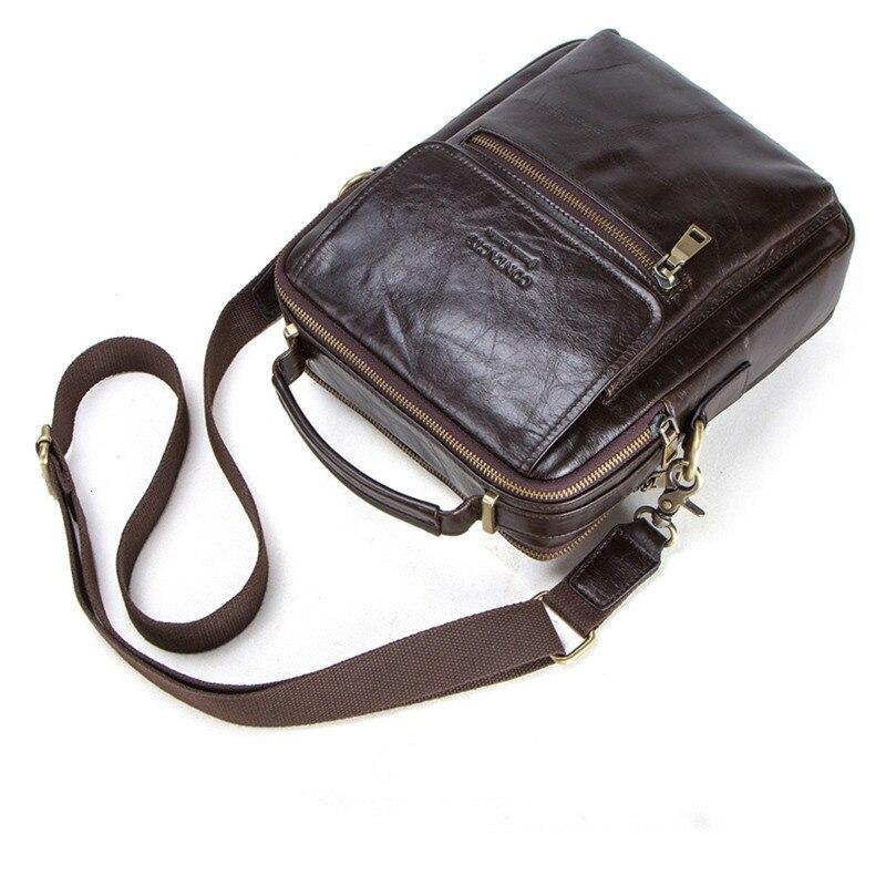 Kleine Echtem Leder Herren Messenger Laptop Aktentasche Mann Tasche Für Männer Schulter Taschen Männlichen Umhängetaschen Für 9,7
