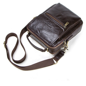 """Small Genuine Leather Mens Messenger Laptop Briefcase Man Bag For Men Shoulder Bags Male Crossbody Bags For 9.7"""" Mini Ipad 2019"""
