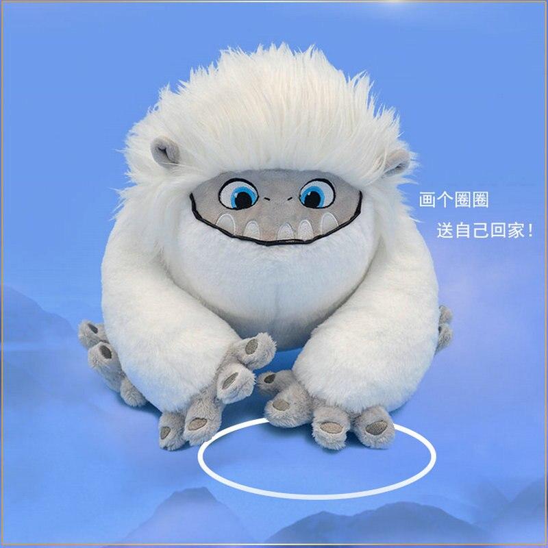 Yeti Plush Toy Movie Anime Snowman Plush Fluffy White Hair Monster Plush Backpack Gift For Children Birthday Gift