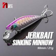 NOEBY señuelo de pesca 90mm 21g hundiendo cebo Artificial de pececillo trucha bajo Jerkbait Wobbler 2020 NBL9496 duro señuelo de pesca