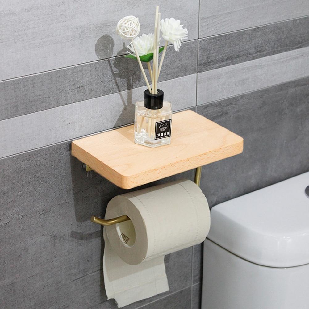 Porte papier toilette bois