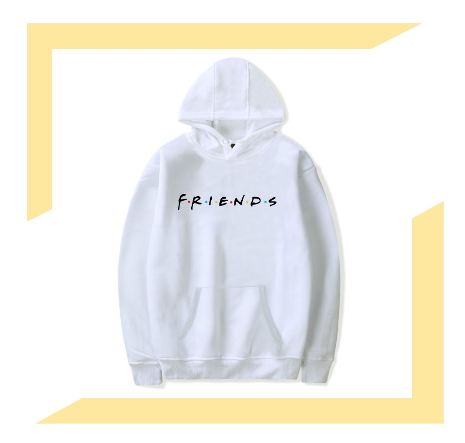 Women Friends Hoodies Harajuku Letters Print Pocket Warm Thicken Pullovers Hip Hop Loose Solid Female Sweatshirts 7