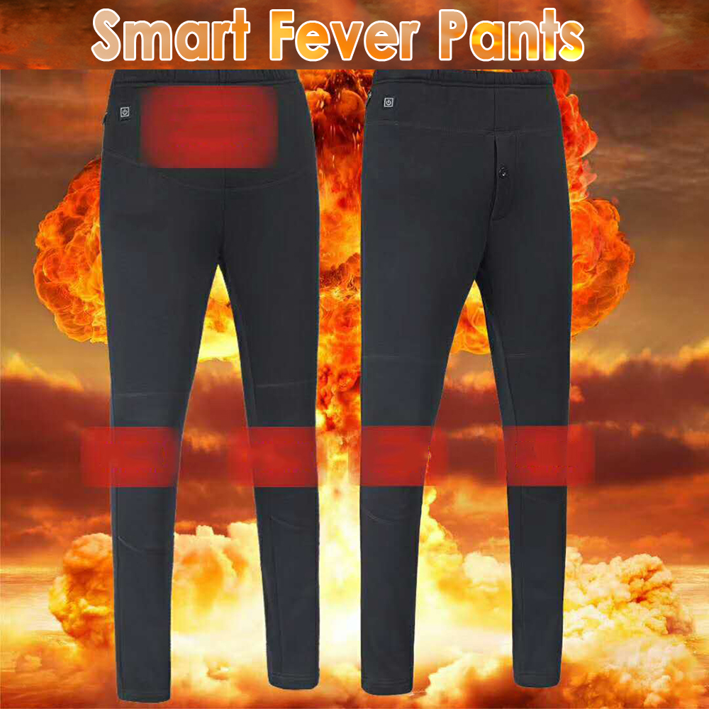 Winter Outdoor Smart Heating Pants Electrical Heating Pants Graphene Carbon Fiber Pants Hiking Heating Thickened Heated Pants